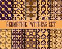 Art Deco Patterns Set ilustração royalty free