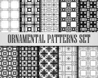 Art Deco Patterns Set ilustração stock