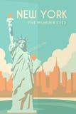 Art Deco-Plakat New York Lizenzfreie Stockfotografie