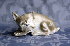 Art Deco porcelany buldog Obraz Stock