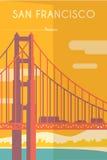 Art Deco poster. San Francisco. Royalty Free Stock Photos