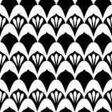 Art Deco Print en negro y blanco ilustración del vector