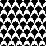 Art Deco Print in Zwart & Wit vector illustratie