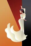 Art Deco projektował Hiszpania Flamenco tancerza Obraz Royalty Free