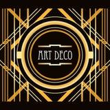 Art Deco projektuje abstrakcjonistyczną geometryczną ramę Zdjęcia Stock