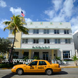 Art Deco Projektuje Avalon w Miami plaży Obrazy Stock