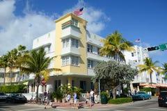 Art Deco Projektuje Avalon w Miami plaży Obraz Royalty Free