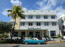 Art Deco Projektuje Avalon w Miami plaży Obrazy Royalty Free