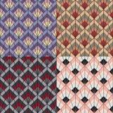 Art Deco projektuje bezszwową deseniową teksturę Obraz Royalty Free