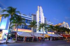 Art Deco Projektuje falochron w Miami plaży Obrazy Royalty Free