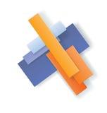 Art Deco projektuje geometrycznego jaskrawego projekt Zdjęcia Stock