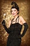 Art Deco projektuje partyjnej dziewczyny Zdjęcie Royalty Free