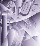 art deco przemysłowe ilustracji
