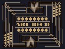 art deco rama Art Deco rocznika geometryczna rama Obrazy Royalty Free