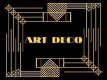 art deco rama Art Deco rocznika geometryczna rama styl retro tło Stylowi 1920's, 1930's Obraz Royalty Free