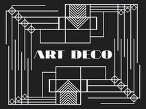 art deco rama Art Deco rocznika geometryczna rama styl retro tło Stylowi 1920s, 1930s wektor Zdjęcie Royalty Free