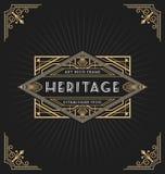 Art Deco rama i etykietka projekt Obrazy Stock