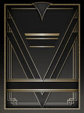 Art Deco rama i tło Fotografia Stock
