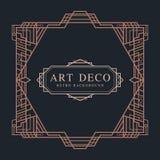 Art Deco Retro Background-Vektor vektor abbildung