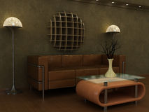 Art Deco revival style lounge. Royalty Free Stock Photo