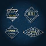 Art Deco rocznika geometryczna etykietka Zdjęcie Stock