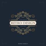 Art Deco rocznika projekt retro zawijas ramy Obrazy Royalty Free