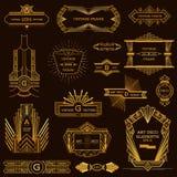 Art Deco rocznika ramy Obraz Royalty Free