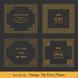 Art Deco rocznika ramy Zdjęcia Royalty Free