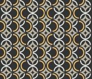 Art Deco rocznika tapety bezszwowy wzór Fotografia Stock