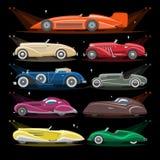 Art Deco samochodu transportu i art deco samochodu samochodowy wektorowy retro luksusowy nowożytny ilustracyjny ustawiający stary ilustracja wektor