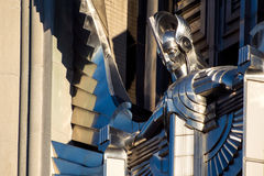 Art Deco Sculpture Facade on an Office Building Royalty Free Stock Photography