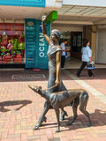 Art deco sculpture at the shoppingcenter in Napier, New Zealand Stock Photography