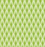 Art Deco Seamless Background vert abstrait Modèle géométrique d'échelle de poissons Image libre de droits
