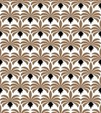 Art Deco Seamless Pattern. Geometric Floral decorative texture. Vector Leaves stylish background. Royalty Free Stock Photos