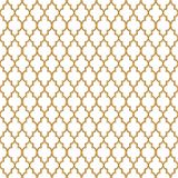 Art Deco Seamless Ornament Vector Pattern Gold royalty free stock photo