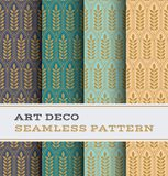 Art Deco seamless pattern 28. Art Deco seamless pattern with 4 colours background vector illustration