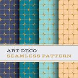 Art Deco seamless pattern 42. Art Deco seamless pattern with 4 colours background vector illustration