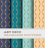 Art Deco seamless pattern 35. Art Deco seamless pattern with 4 colours background royalty free illustration