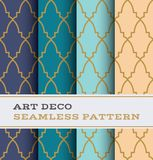 Art Deco seamless pattern 37. Art Deco seamless pattern with 4 colours background stock illustration