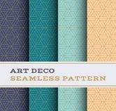 Art Deco seamless pattern 48. Art Deco seamless pattern with 4 colours background Royalty Free Stock Photo