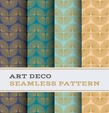 Art Deco seamless pattern 54. Art Deco seamless pattern with 4 colours background Royalty Free Stock Photography