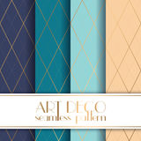 Art Deco seamless pattern. With 4 colours background Stock Photos