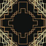 Art Deco Seamless Pattern Background Vecteur Photos stock