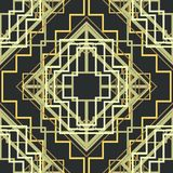 Art Deco Seamless Pattern Background Vecteur Images libres de droits