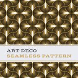 Art Deco seamless pattern black white and gold colours 08. Art Deco seamless pattern with black white and gold colours stock illustration