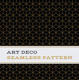 Art Deco seamless pattern  black white and gold colours 11. Art Deco seamless pattern with black white and gold colours Royalty Free Stock Photos