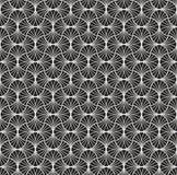 Art Deco Seamless Pattern classique Texture élégante géométrique Rétro texture abstraite de vecteur Image stock