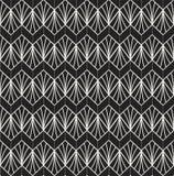 Art Deco Seamless Pattern classique Texture élégante géométrique Rétro texture abstraite de vecteur Images stock
