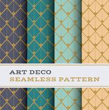 Art Deco seamless pattern 41. Art Deco seamless pattern with 4 colours background stock illustration