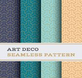 Art Deco seamless pattern 46. Art Deco seamless pattern with 4 colours background Stock Image
